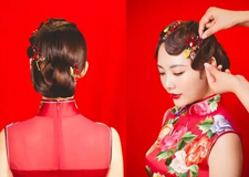 手推波浪旗袍造型教程 展现东方女人的独特魅力