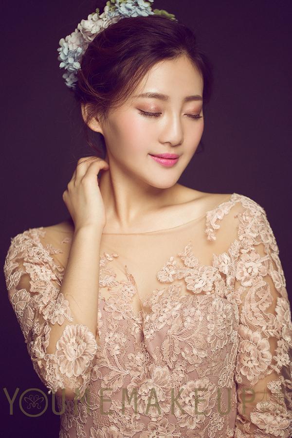 梦幻唯美的韩式鲜花新娘造型 美仙了_妆面赏析_影楼
