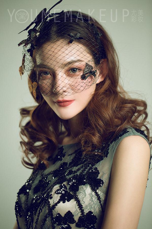 欧式复古新娘面纱造型图片