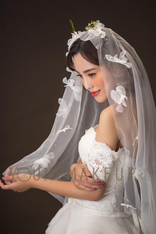 仙美头纱新娘造型 美得令人心醉图片