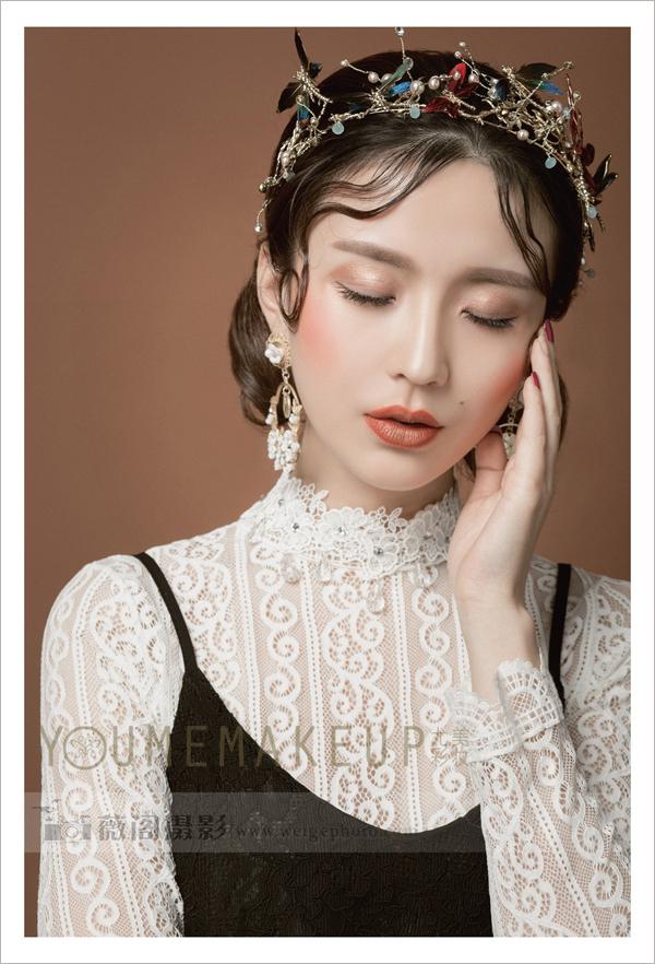 复古新娘头饰造型 彰显时尚女王范儿_妆面赏析_影楼