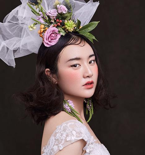 复古森系新娘造型 化妆造型