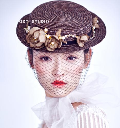 精致新娘头饰造型 化妆造型
