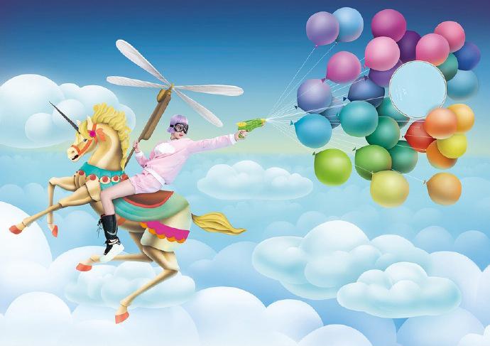 超现实主义视觉艺术作品:穿越七彩的美梦_设计欣赏