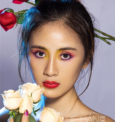 鲜花妆面创作 化妆造型