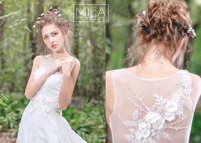 柔和可爱的新娘 如春日精灵般美好