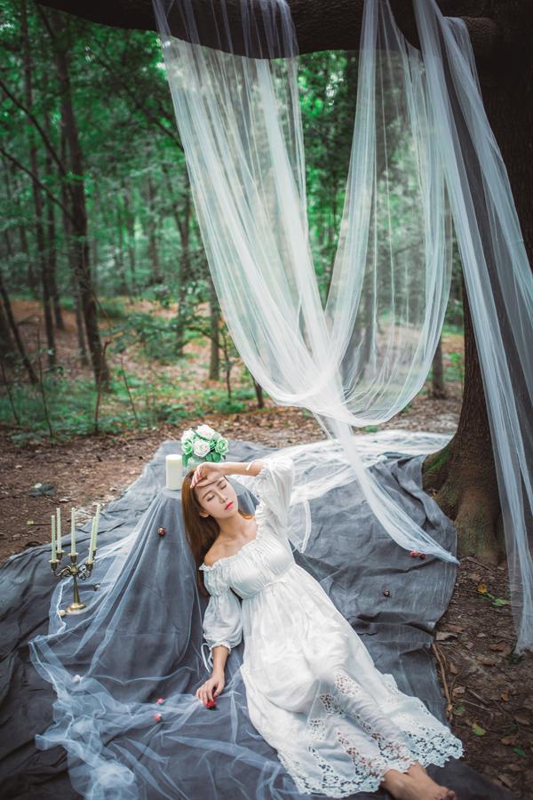 林中精灵 创意森系人像摄影大片