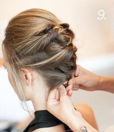 短发新娘盘发教程 尽显你的优雅与气质图片