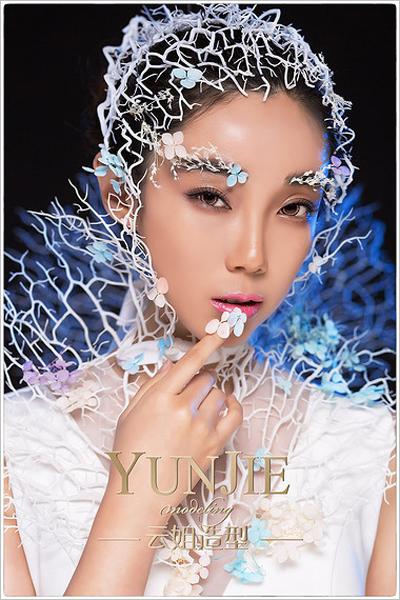 时尚新颖的创意新娘造型_妆面赏析_影楼化妆_黑光网图片