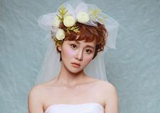 浪漫花仙子 春季新娘鲜花头饰造型欣赏