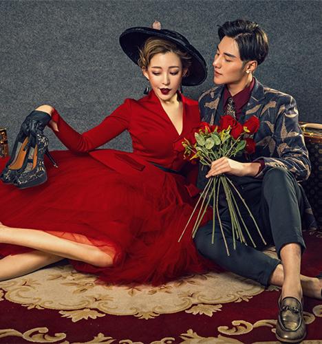 红色印记 婚纱照