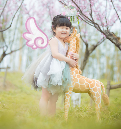 粉色春季 儿童摄影