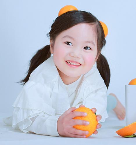 橘子女孩 儿童摄影