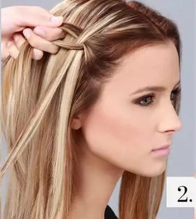 简单的发型教程 一分钟让头发美到爆图片