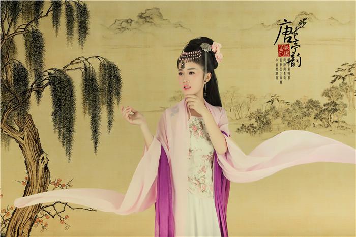 修图师赖毅古风工笔人像作品:唐亭韵
