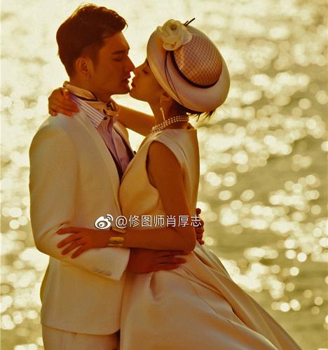 夕阳之恋 婚纱照