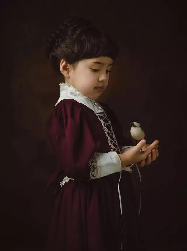 復古油畫風格兒童攝影的用色教程