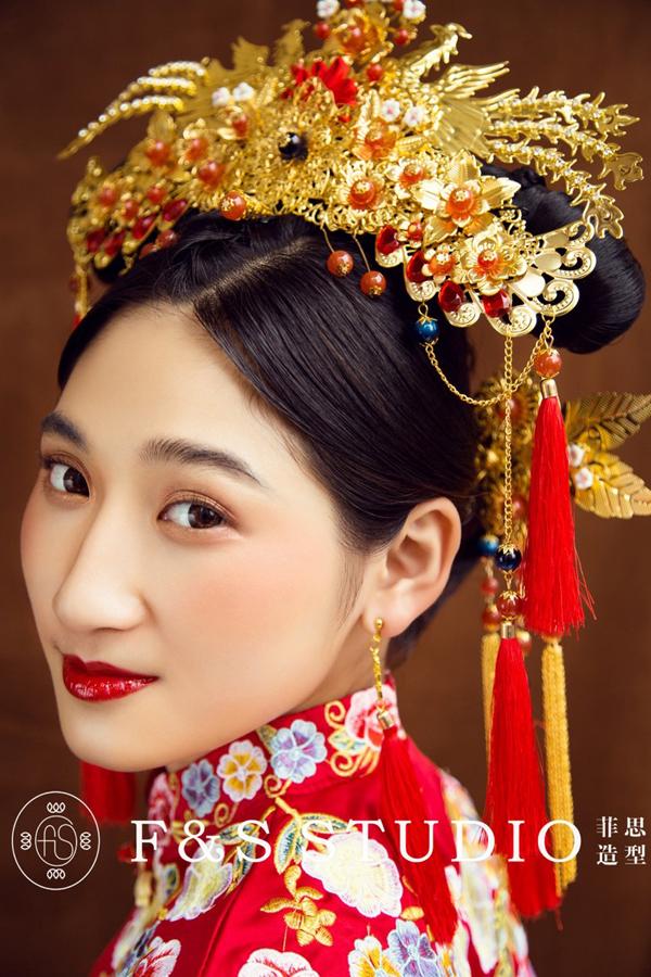 2017中式新娘造型 古典高贵气质与柔情的完美结合
