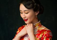 最新影楼资讯新闻-中式红妆新娘造型 眉目如画惊艳全场