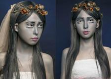 另类搞怪僵尸新娘妆画法 带你感受不一样的新娘妆