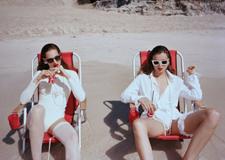 最新影樓資訊新聞-復古膠片質感的海灘超模人像攝影大片
