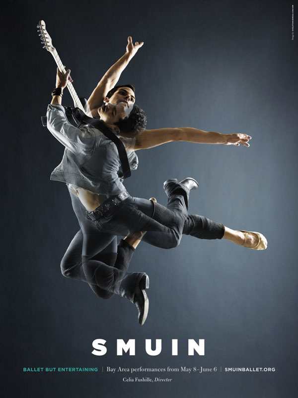 海报平面设计作品,作者将剧团演员们的舞台造型与生活中的时装造型
