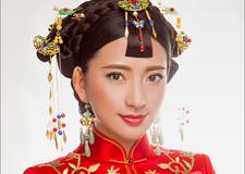 最新影楼资讯新闻-中式新娘造型欣赏 红妆