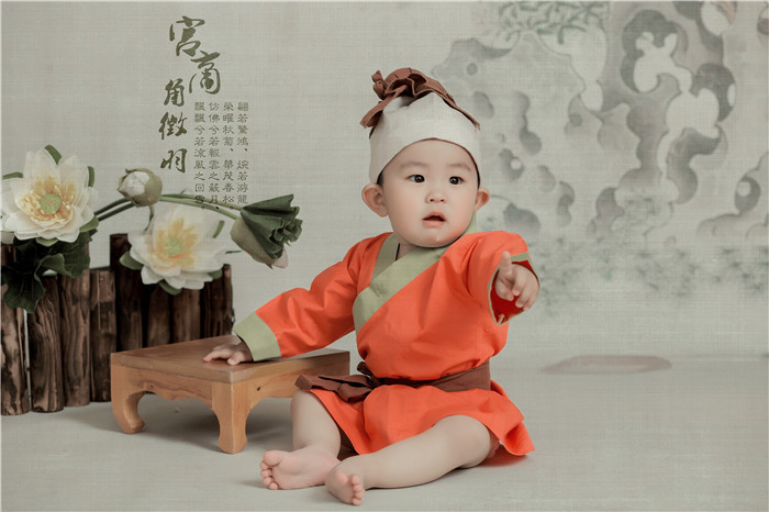 修图师赖毅 中国风儿童工笔画摄影作品
