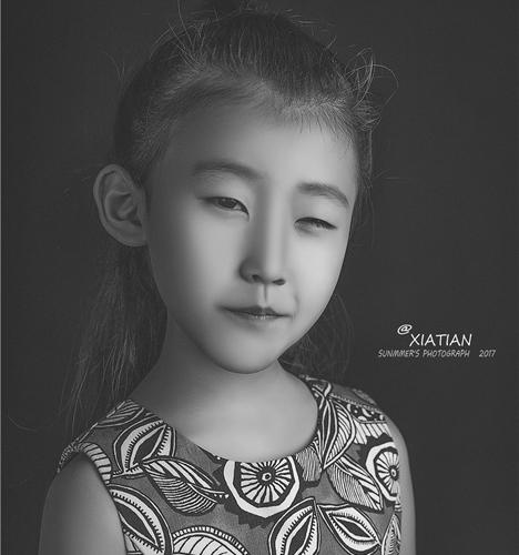 黑白肖像 儿童摄影