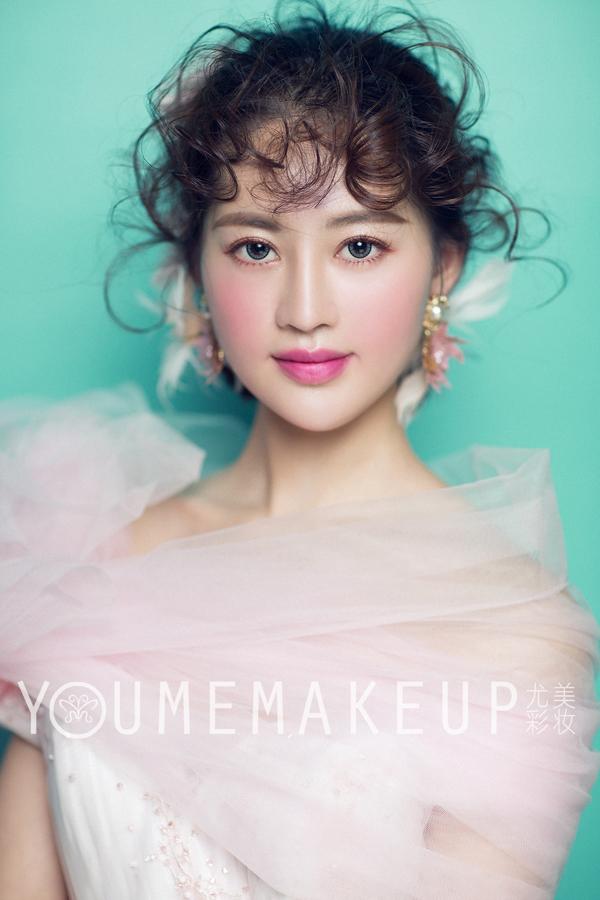 清新唯美韩式新娘造型_妆面赏析_影楼化妆_黑光网