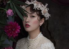 复古油画少女系新娘造型