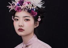 夏季热门时尚鲜花新娘造型