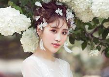 夏季繁花优雅系 唯美新娘头饰造型