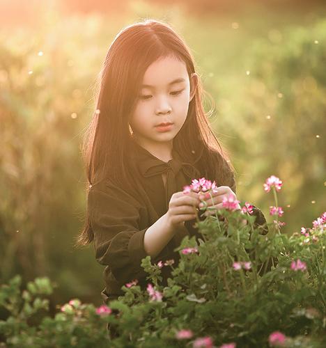 夕阳外景 儿童摄影