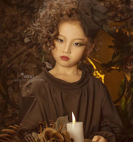 低调公主的下午茶 儿童摄影