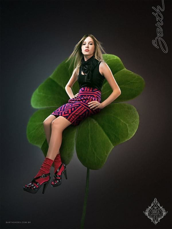 时尚创意广告设计作品 barth shoes女鞋