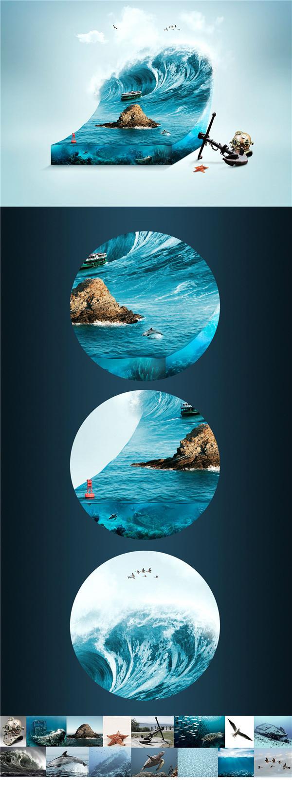 巴西设计师jack usephot数码平面广告设计作品,作者善于利用多元素