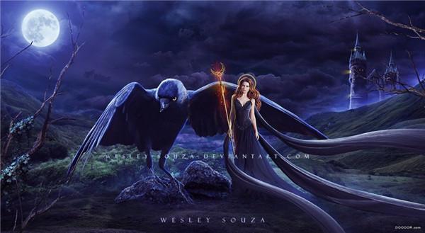 分享一组欧式古典神话的数字合成作品,作者wesley souza,唯美奇幻