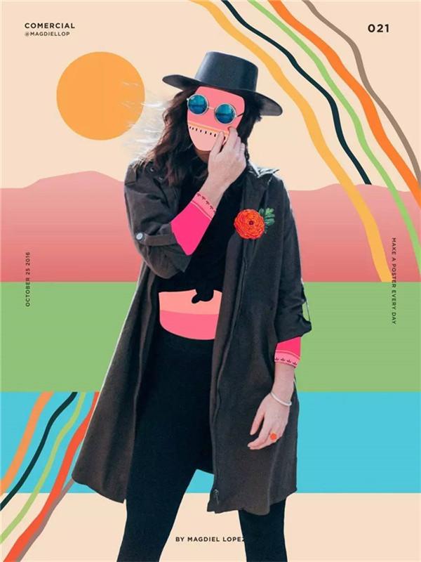 每日一张抽象海报 视觉设计师 lopez 海报计划