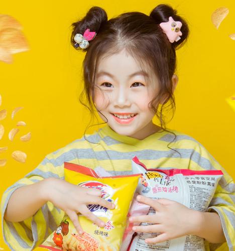 零食小美女 儿童摄影