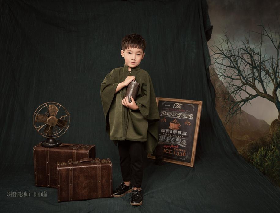 暗色系 儿童摄影