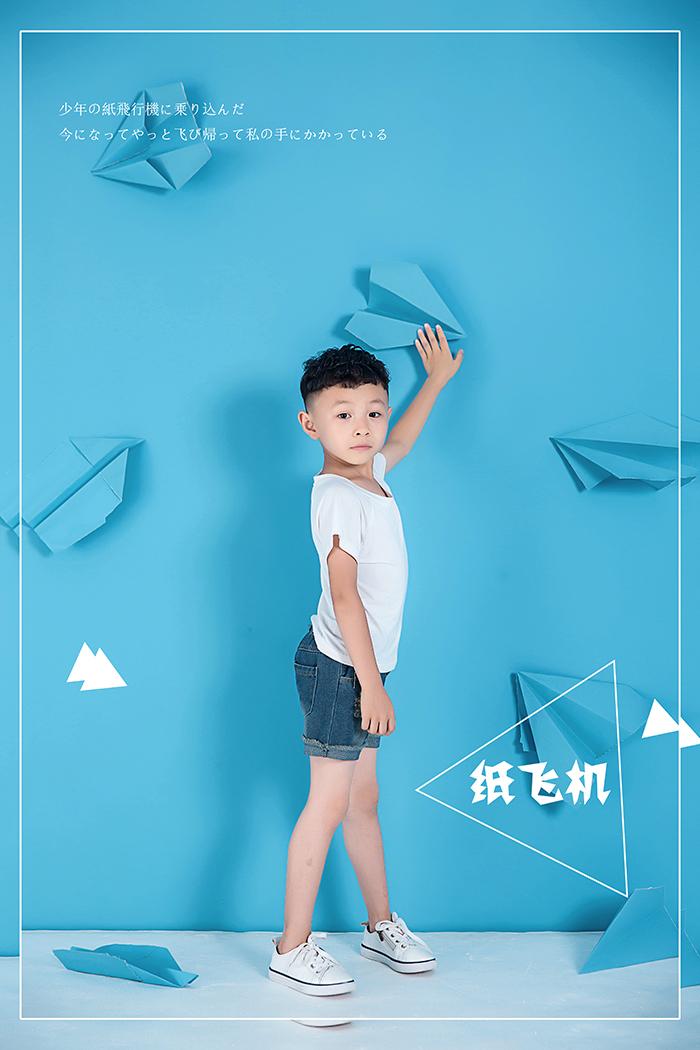 纸飞机 儿童摄影
