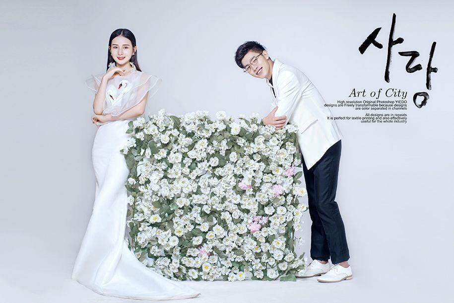 韩式室内 婚纱照
