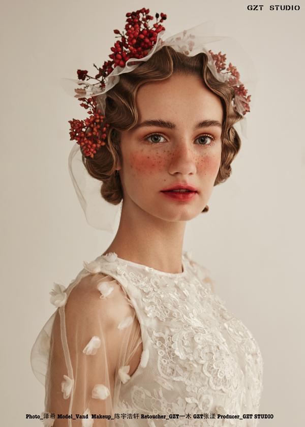 欧式复古新娘造型欣赏_妆面赏析_影楼化妆_黑光网图片