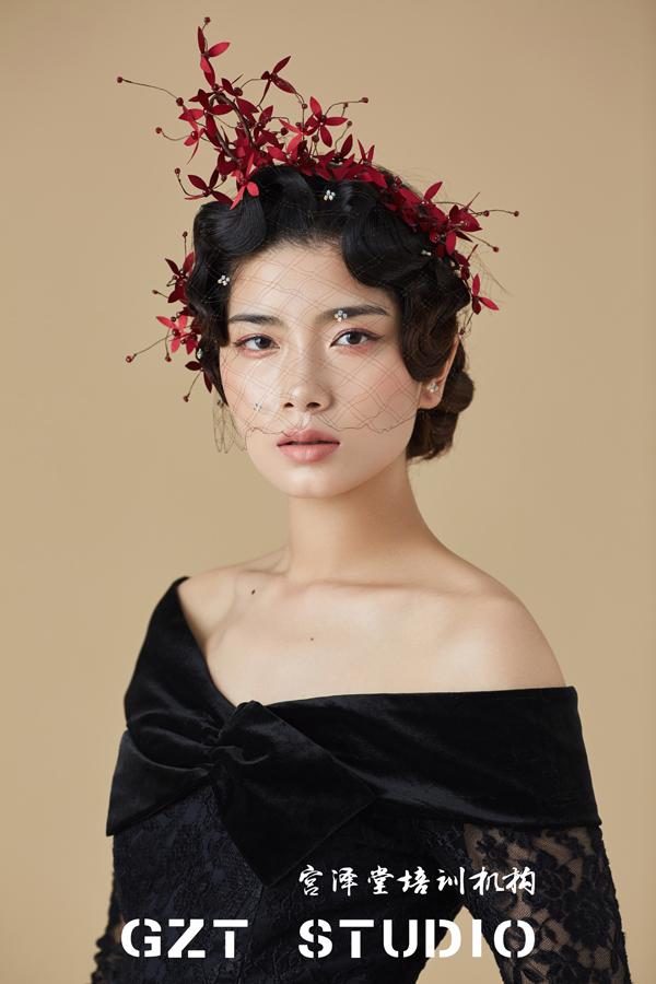 欧式复古新娘造型欣赏(2)_妆面赏析_影楼化妆_黑光网图片