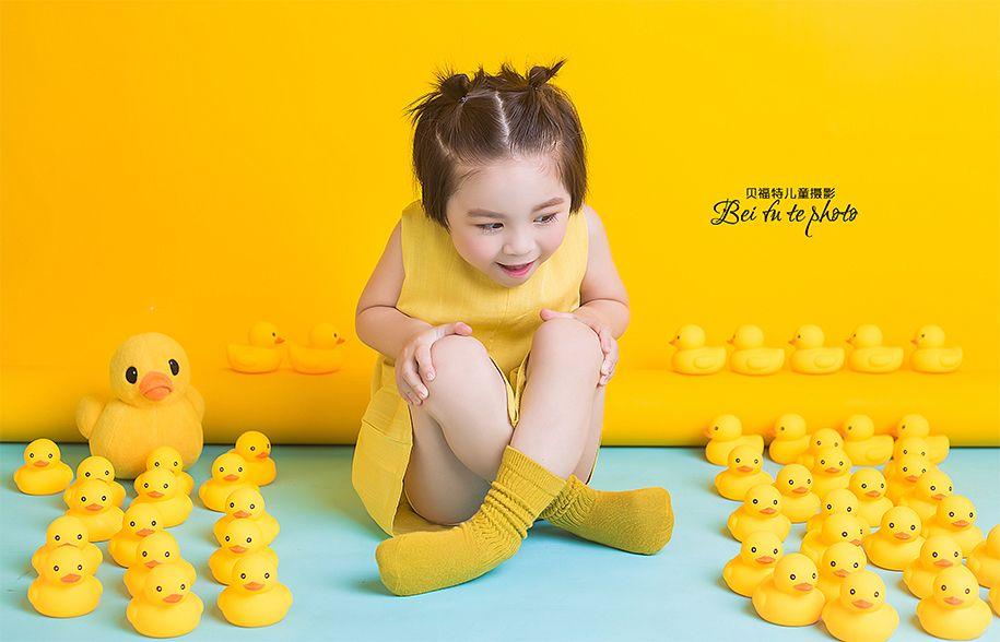小黄鸭 儿童摄影
