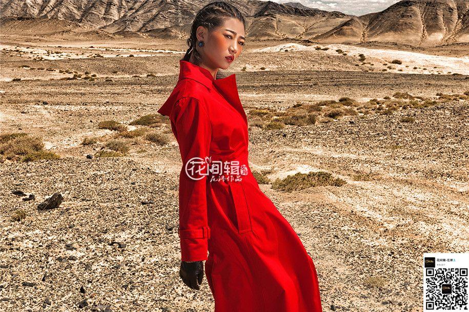红色风衣 写真摄影