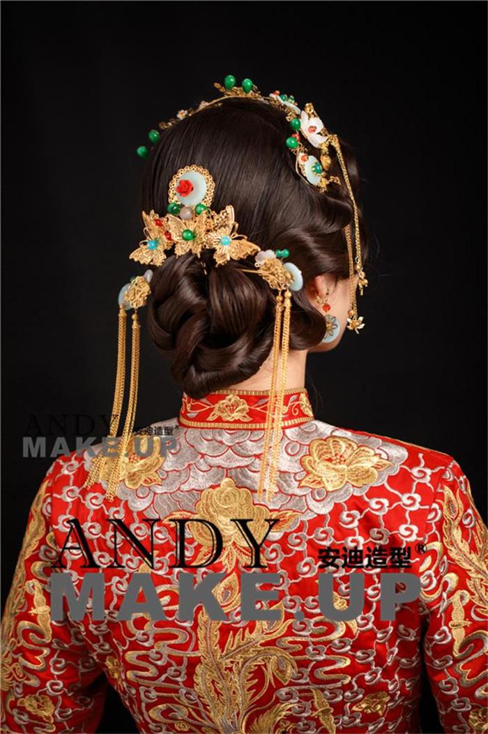 简单中式新娘盘发步骤分享展示