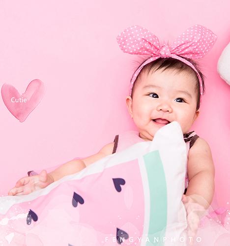 百天女宝 儿童摄影