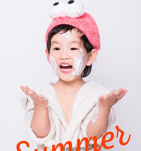 可爱浴袍 儿童摄影